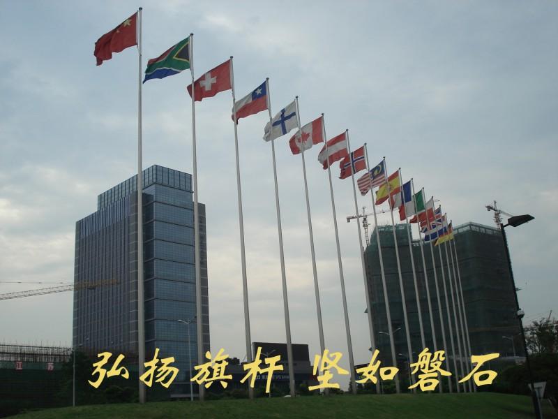 中国泰州医药城不锈钢锥形旗杆3