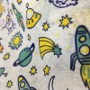印花无纺布 可爱火箭图案 可定制